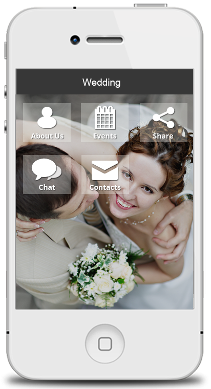 Create a wedding app make your own wedding app for your guests wedding app maker junglespirit Choice Image