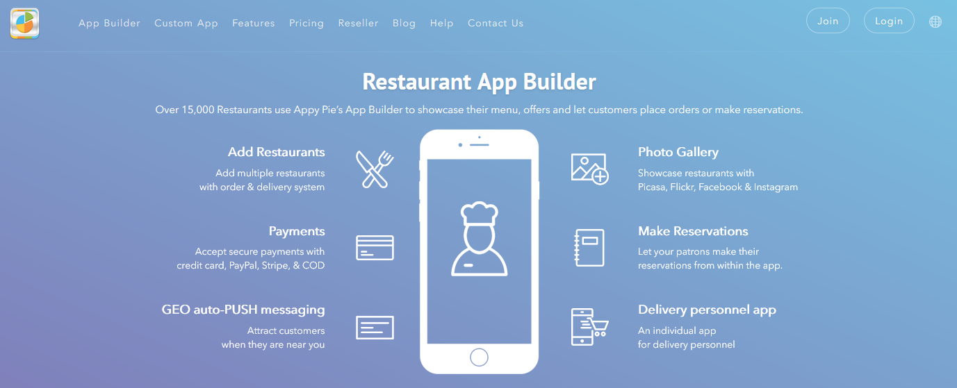 Restaurant App Builder | How to Create a Restaurant App for Free