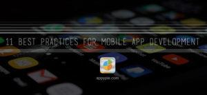11 Best Practices For Mobile App Development